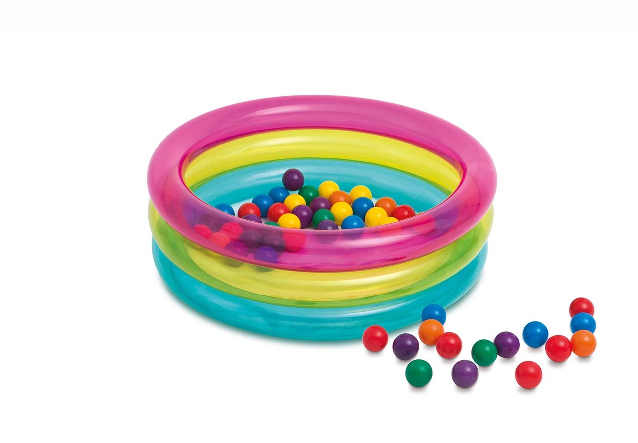 Intex 48674 Classic 3-Ring Baby Ball Pit