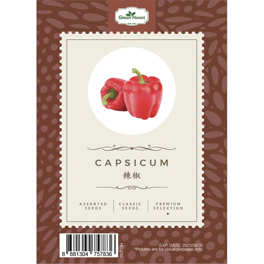 Green Hands Assorted Seeds - Capsicum